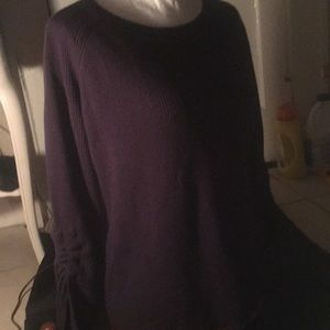 NWT Ann Taylor Navy Ribbed Wool Blend Sweater